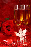 De dagkaart van de valentijnskaart. stock fotografie
