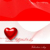De dagkaart van de valentijnskaart stock illustratie