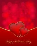 De dagkaart van de valentijnskaart Stock Afbeeldingen