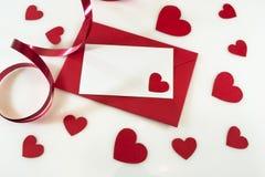 De dagkaart van de valentijnskaart Stock Fotografie