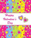 De dagkaart van de valentijnskaart Stock Afbeelding