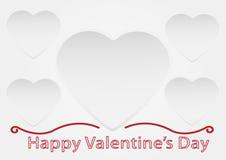 De dagkaart van de valentijnskaart Royalty-vrije Stock Afbeelding
