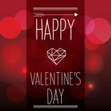 De dagkaart van de valentijnskaart Stock Foto