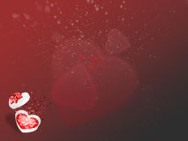 De dagkaart van de valentijnskaart met royalty-vrije stock foto