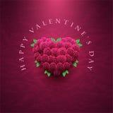 De dagkaart van de valentijnskaart met rozen Stock Afbeelding