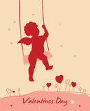 De dagkaart van de valentijnskaart `s Stock Afbeelding