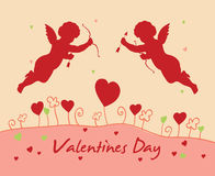 De dagkaart van de valentijnskaart `s Stock Foto