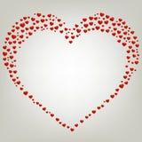 De dagkaart van hartvalentijnskaarten Kader Stock Afbeelding
