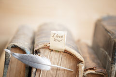 De dagkaart van LIEFDE Gelukkige Valentijnskaarten Stock Foto's
