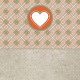 De dagkaart van Retro valentijnskaart met hart. EPS 8 Stock Afbeelding