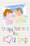 De dagkaart van vaders Stock Foto's