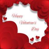 De dagkaart van de valentijnskaart `s met harten Royalty-vrije Stock Afbeelding