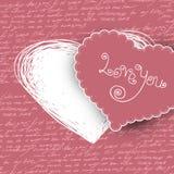De dagkaart van valentijnskaarten royalty-vrije illustratie