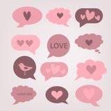 De dagkaart van valentijnskaarten stock foto