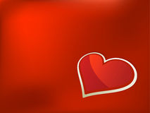 De dagkaart van valentijnskaarten. + EPS8 Stock Foto