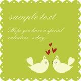 De dagkaart van Valentin `s stock illustratie