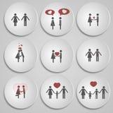 De Dagkaart van Valentine met een liefdeverhaal Royalty-vrije Stock Afbeeldingen