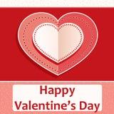 De dagkaart van Valentine ` s, met de decoratie van de hartvorm Royalty-vrije Stock Afbeeldingen