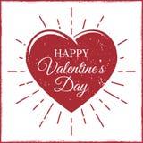 De dagkaart van Valentine ` s met hart adn stralen Royalty-vrije Stock Foto