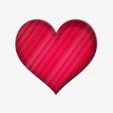 De dagkaart van Valentine ` s met rood hart stock illustratie