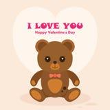 De Dagkaart van Vectoriteddy bear st valentine Royalty-vrije Stock Foto