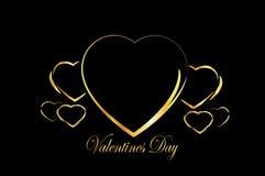 De dagkader van hart gelukkig valentijnskaarten Stock Afbeeldingen