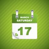De dagkalender van heilige Patrick Stock Foto's