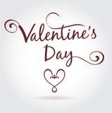 De Dagkalligrafie van Valentine Stock Foto's