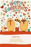 De dagkatten van de valentijnskaart Stock Foto's