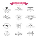 De Dagkentekens en Etiketten van Valentine Stock Afbeeldingen