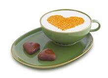 De dagkoffie 1 van de valentijnskaart Stock Afbeeldingen