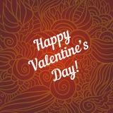 De dagkrabbel van Hand-drawn valentijnskaart Royalty-vrije Stock Afbeeldingen