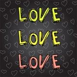 De dagkrabbel van Hand-drawn valentijnskaart Royalty-vrije Stock Foto