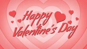 De Daglijn van gelukkig Valentine stock footage