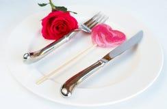 De daglijst van valentijnskaarten het plaatsen Stock Fotografie