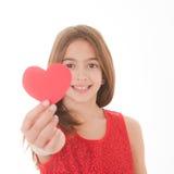 De dagmeisje van valentijnskaarten royalty-vrije stock fotografie