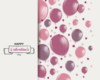 De Dagontwerp van gelukkig Valentine Stock Fotografie