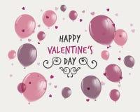 De Dagontwerp van gelukkig Valentine Stock Afbeelding