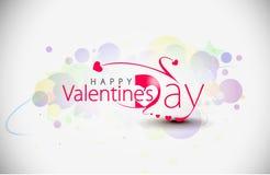 De dagontwerp van valentijnskaarten Stock Afbeeldingen