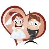 De dagpaar van het huwelijk Stock Foto's