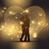 De dagpaar van Valentine ` s Stock Foto's