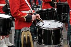 De dagparade van heilige Patrick in Montreal stock fotografie