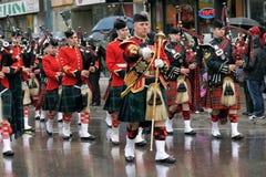 De dagparade van heilige Patrick in Montreal Royalty-vrije Stock Fotografie