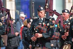 De Dagparade van heilige Patrick ` s, Ottawa, Canada Royalty-vrije Stock Fotografie