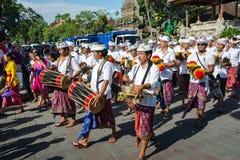 De dagparade van Ogoh -ogoh en Nyepi- Royalty-vrije Stock Fotografie