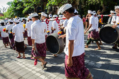 De dagparade van Ogoh -ogoh en Nyepi- Stock Fotografie