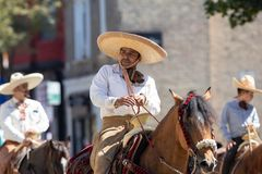 De Dagparade 2018 van de Pilsen Mexicaanse Onafhankelijkheid stock fotografie