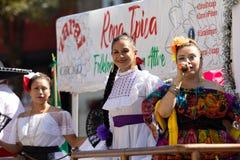 De Dagparade 2018 van de Pilsen Mexicaanse Onafhankelijkheid stock afbeelding