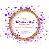 De dagpartij van de valentijnskaart `s Stock Afbeeldingen