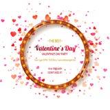 De dagpartij van de valentijnskaart `s Stock Afbeelding